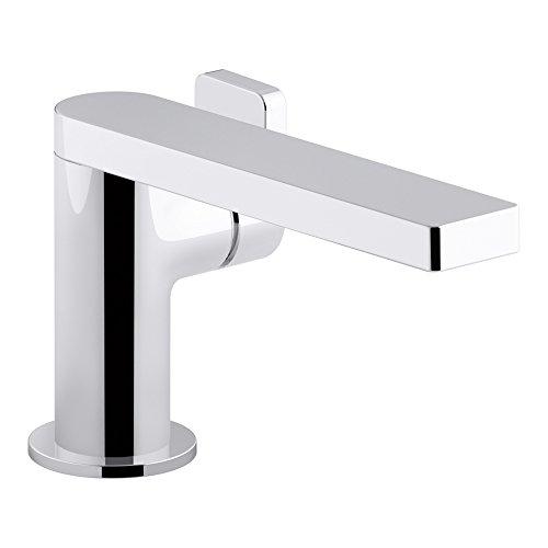 KOHLER K-73167-4-CP Composed Single-Handle Bathroom Sink Faucet with Lever Handle, Polished Chrome