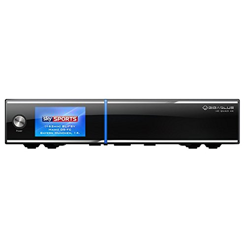GigaBlue UHD Quad 4K 2XDVB: FBC Ultra HD E2Linux HEVC H.265Receiver 4TB HDD