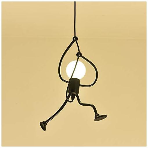 Ferro Lampada Sospensione Vintage Creativi E27, Lampadario Camera Letto Moderno, Per Bar Bagno Soggiorno Ristorante Balcone Loft Decorazione, lampadina Non Inclusa