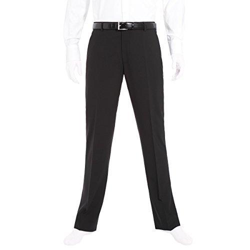 Benvenuto Black - Regular Fit - Herren Baukasten Hose (Modell: 20084) aus Super Schurwolle (Artikel: 20097), Größe:106, Farbe:Schwarz (4000)