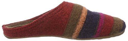 HaflingerPrisma - Pantofole Donna Multicolore (Multicolore (42 Paprika))