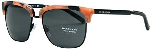 BURBERRY Herren BE4154Q Sonnenbrille, Braun (Spotted Amber 351887), One size (Herstellergröße: 55)