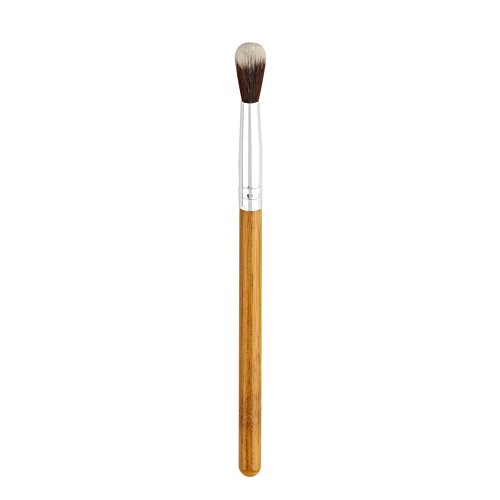 Poignée de bambou pinceau de maquillage lumière haute fard à paupières en fibres synthétiques,Parfait pour estomper le maquillage des yeux, le fard à paupières et plus encore