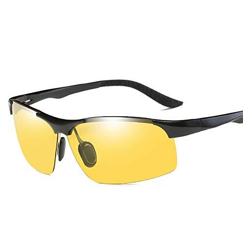 FIYOMET Sonnenbrillen für Herren Farbwechsel polarisierte lichtempfindliche Proof Tag und Nacht Fahrer Driving Brille 2102
