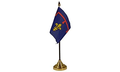 Frankreich Desktop Tischdekoration Flagge Fahnen mit Gold Böden Ideal für Party-Konferenzen Office-Display (Provence Fahne)