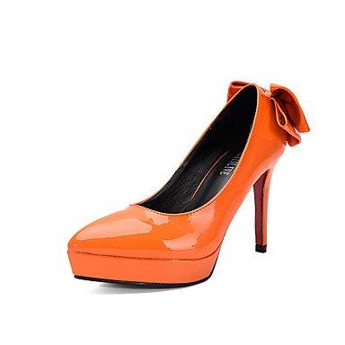 Moda Donna Sandali Sexy donna tacchi tacchi caduta / Punta /Dress Stiletto Heel Bowknot Nero / Grigio / mandorla arancio / a piedi Black