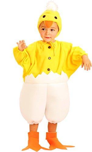 Welpen Kinder Kostüm - Blumen Paolo-Küken Kostüm Kinder unisex-child, gelb, 3-4Jahre, 61318.3-4