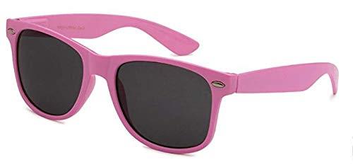Boolavard TM Sonnenbrille Nerdbrille retro Art. 4026 (Rosa Pastell Tönung)