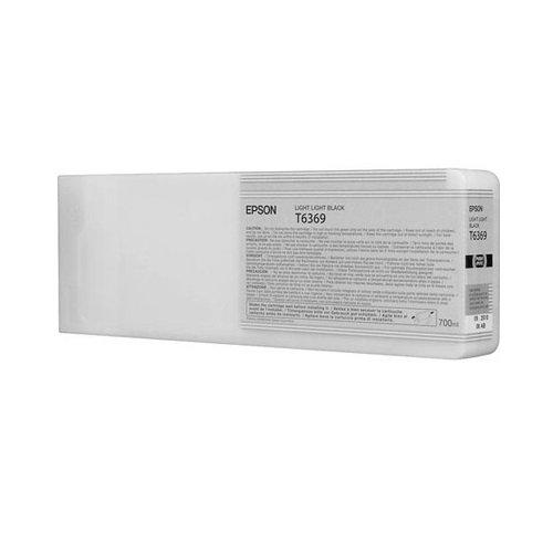 Epson T6369 C13T636900 - Cartouche d'encre d'origine - Gris clair (Light light black) pour Stylus Pro - 700ml