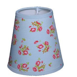 Lampshade in rose made of fabric, TL 11- 7-11