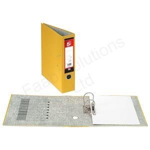 Bargain 5Star Lever Arch File 70mm Spine A4Pack of 10 yellow on Line
