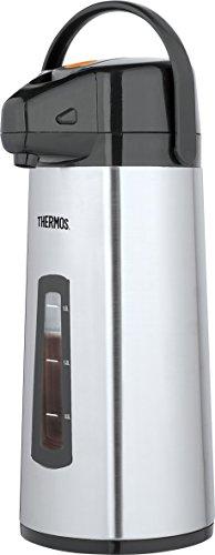 Thermos 4060.205.220 Getränkespender Pumppot mit Füllstandsanzeige, 2,2 L, Polyester, Edelstahl