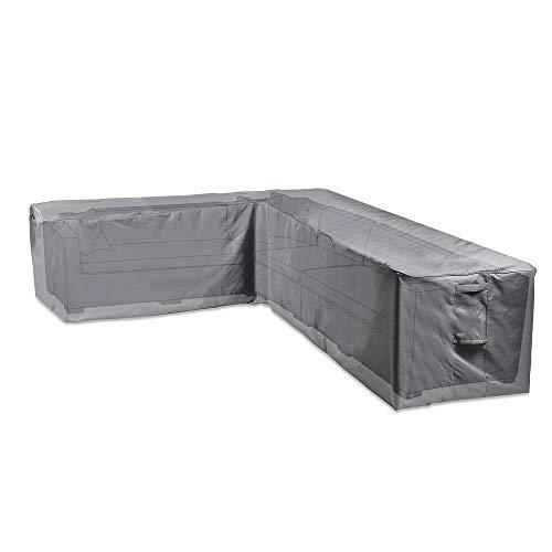 VonHaus Abdeckung Adeckhaube für Gartenmöbel Ecksofas - Wasserdichte, atmungsaktive Schutzhülle für L-Form Outdoor Sofas - Schutz vor Wind, Regen, Frost, Hitze, Staub & mehr