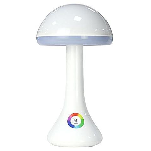 L&R Schreibtisch Lampe Pilz Nacht Lichter Tisch Licht Leselicht Bunte 3 Ebenen LED Lampe einstellbar Multicolor RGB LED Licht