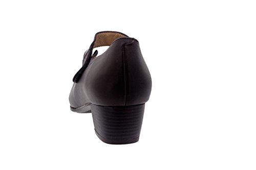 Chaussure femme confort en cuir Piesanto 3109 basse comfortables amples Caoba