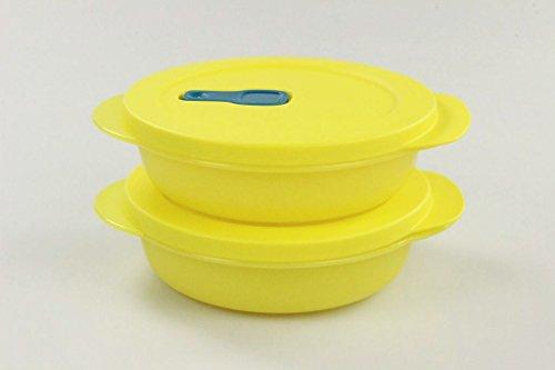 TUPPERWARE Mikrowelle CrystalWave 400 ml (2) gelb Micro Crystal Wave Plus Fix 26469 - Tupperware Crystal