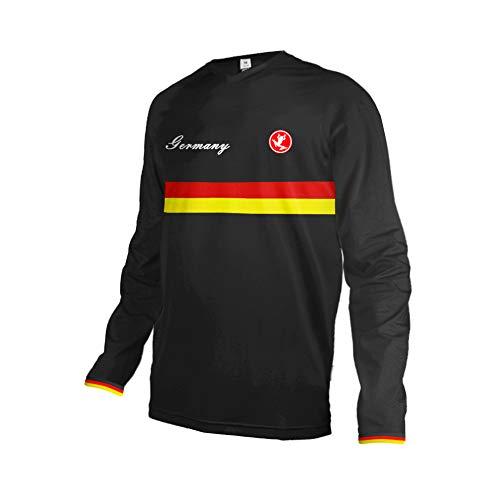 Uglyfrog 2018 Lange Ärmel Jersey Nationalflagge Streifen Muster Design Frühlingsart Motocross Mountain Bike Downhill Shirt Herren Sportbekleidung Kleidung