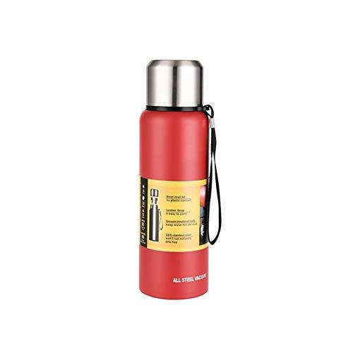 Zsl8 bottiglia per sport studenti maschi e femmine aspirano l'acciaio inossidabile senza bpa,red,1.5l