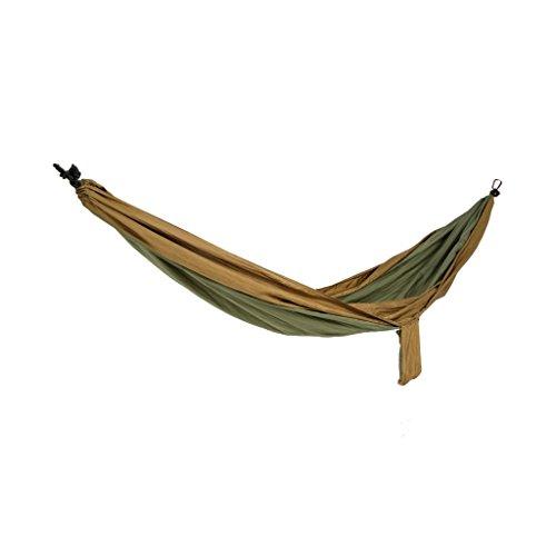 Spokey COCOON Nylon Hängematte Hängeliege Gartenliege, Single, 280x140 cm + Abdeckung olive Outdoor Trekking