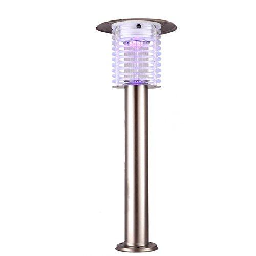 AMZH Solar Mosquito Killing lámpara jardín al aire libre impermeable recargable llevó Mosquito Exterminator Electric Shock Anti-mosquito lámpara