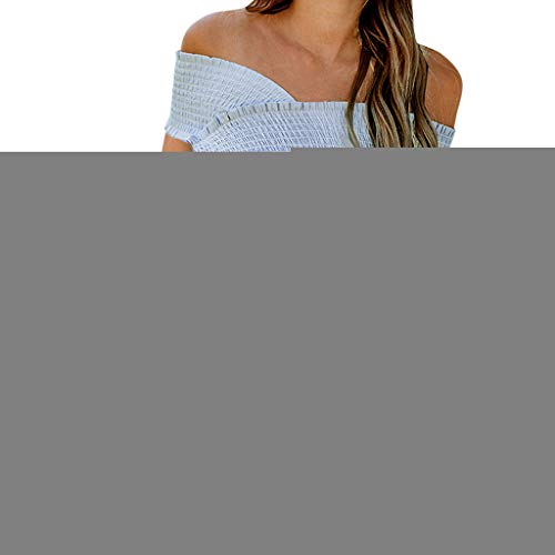 kolila Damen Camisole Tops Einzigartige Cross Frill Sling T-Shirt Weste Einfarbig Unregelmäßige Freizeithemd Bluse Tunika -
