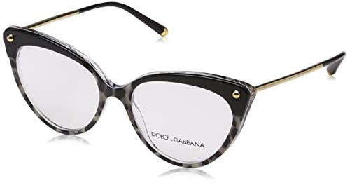 Ray-Ban Damen 0DG3291 Brillengestelle, Schwarz (Top Black On Duble Leo Print), 54