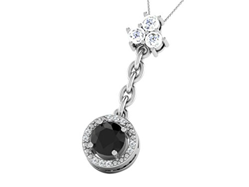 his-her-006-cts-diamonds-12-cts-black-onex-oval-shape-pendant-in-925-sterling-silver-with-rose-gold-