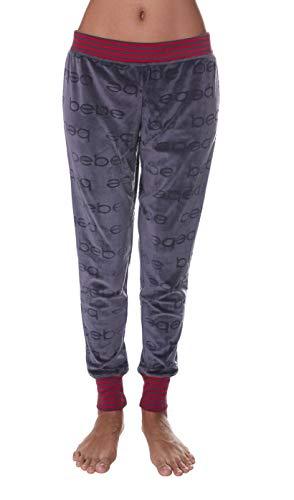Bebe Damen Skinny Jogger Lounge Schlafanzug Pyjama PJ Pants - Grau - X-Large -
