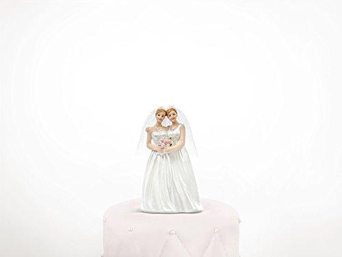 Tortenfigur MRS & MRS Hochzeitsfigur Braut & Braut zwei Frauen Frauenpaar