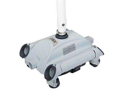 LegnagoferrIntex 28001- Robot limpiador automático para piscinas desmontables, tubo de 7,5m con conector