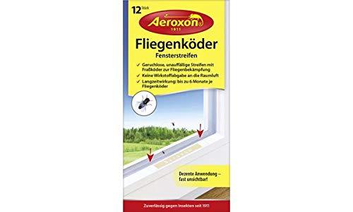 Verwenden Sie Raumluft (Aeroxon Fliegenköder Fensterstreifen, 12er Set, Sie erhalten 1 Packung, Packungsinhalt: 12 er Set)