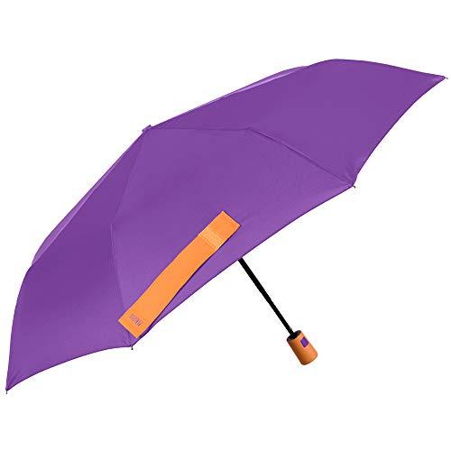 Paraguas Plegable Mujer Morado Colores Solidos Brillantes
