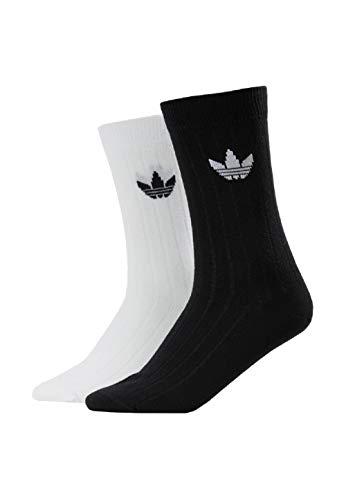 adidas Mid Rib CRW Crew Socks Socken 2er Pack (43-46, black/white)