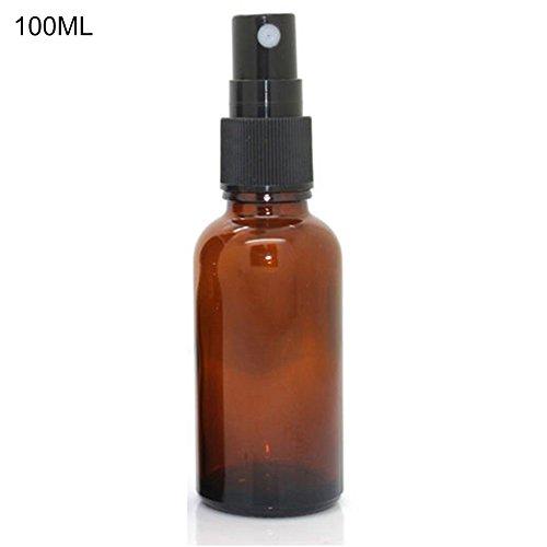 Flacon pulvérisateur en verre ambré par Gemini_mall - 100 ml - Spray noir - Récipient rechargeable pour huile essentielle et arômes