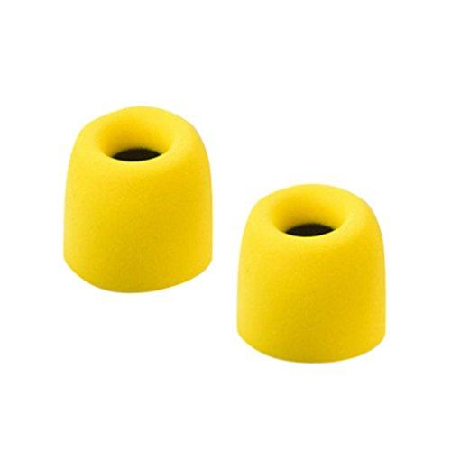 Gaddrt Ohrstöpsel Kopfhörer Original qkz Schaumstoff Tipps CK5in Ohr Kopfhörer Stereo Race Sport Headset, Gelb 2.5 Mm Mp3 Stereo