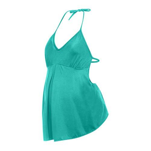 PAOLIAN_Traje de baño para Embarazadas Trajes de una Pieza para Bikini Maternidad Espalda Descubierta Ropa Premamá Moderna Monokini Mujer Cómodo Tallas Grandes