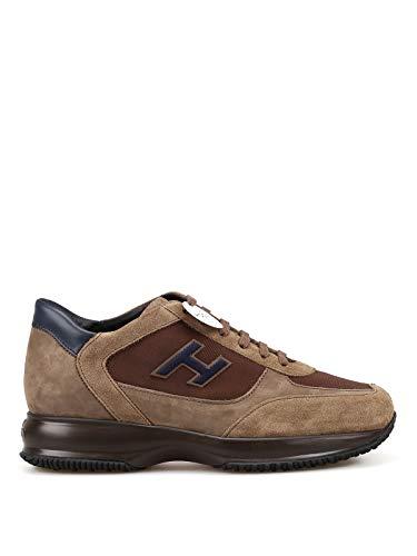Hogan Sneaker New Interactive Marroni HXM00N0Q101LIU871N Marrone Uomo 6