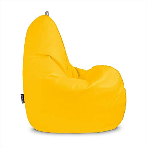 HAPPERS Puff pera Relax Polipiel Indoor Amarillo XL