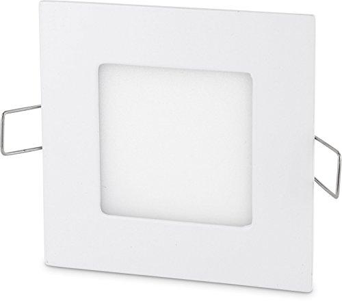 Ultraslim LED Panel 3W 230V Aluminium Einbaustrahler eckig (tagesweiß (4200 K)) -