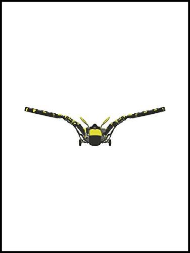 Fliesenaufkleber Fliesentattoos für Bad & Küche - Küchenfliesen für einzelne Fließen 15x20 cm - MF626 - Heuschrecken Flug (Indigo Flug)
