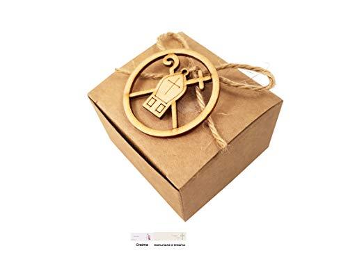 Melograno kit fai da te 12 bomboniere per cresima acz309 decorazione mitra e pastorale (scatolina pudp24)