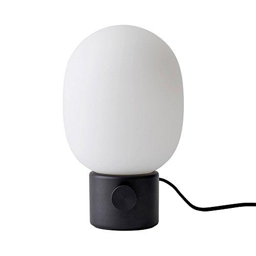 JWDA Metallic Lamp Tischleuchte, schwarz pulverbeschichtet H 29cm, Ø 17cm -