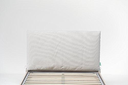 Cangù, Soffy Quilt Kopfteil, Creme, 128 cm x 12,5 cm x 69 cm -