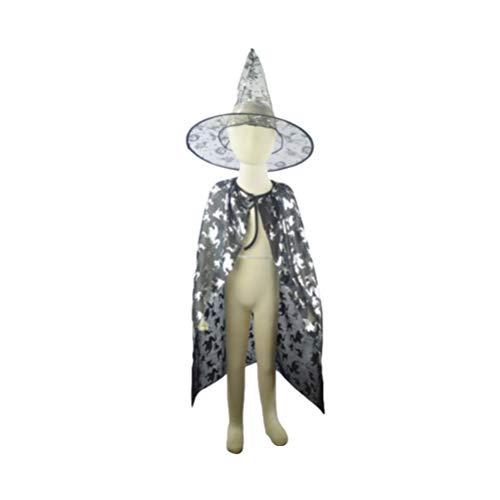 Kostüm Kinder Aviator - Amosfun 1 Satz 80cm Kinder Halloween Hexenzauberer Mantel Hexenhut Cosplay Kostüme