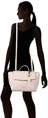 Calvin Klein Jeans Myr4 Top Handle Satchel, Sac Femmes, 28 EU Rose (Frappe)