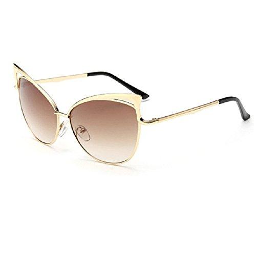 Z-P Women's Geek Fashion New Style Cat Eye Metal Frame Soft Colour Lens Optical Anti-UV Sunglasses UV400