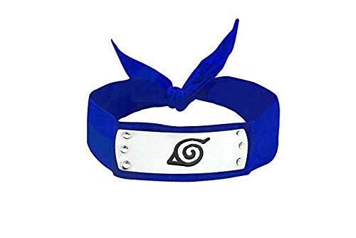 Konoha Stirnband Ninja für Cosplay Naruto Uzumaki (Blau)