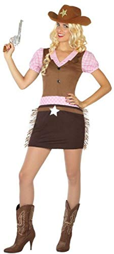 Fancy Me Damen Sexy Cowgirl Wild West Western Cowboys & Indianer Junggesellinnenabschied, Kostüm, Outfit, UK 8-18 (Outfits Für West Damen Wild)