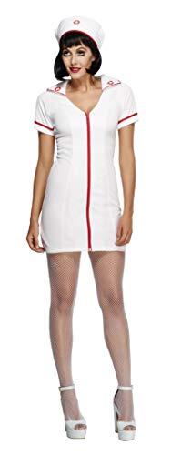 Fever, Damen Schwester Kostüm, Kleid und Haube, Größe: S, 22016 (Krankenschwestern Kostüm Billig)