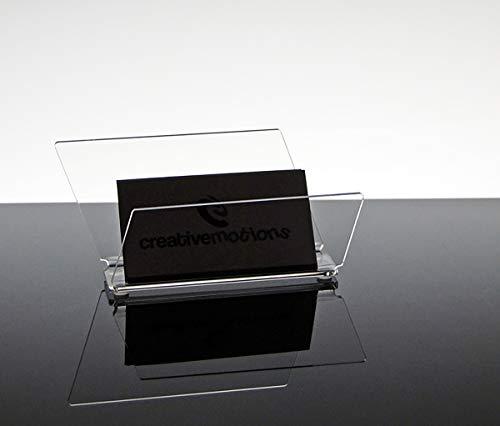 Porta biglietti da visita da tavolo design moderno in plexiglass trasparente Skadi